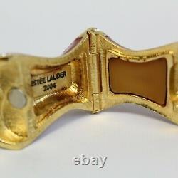 Estee Lauder 2004 Solid Perfume Compact Swarovski Bustier Mib Belle