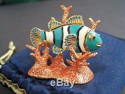 Estee Lauder 2005 Beautiful Fish Radiant Parfum Solide Compact Jeweled Trinket