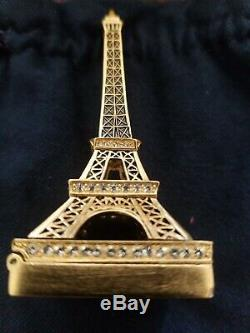 Estee Lauder 2006 Beyond Paradise Tour Eiffel Parfum Solide Compact Box Trinket