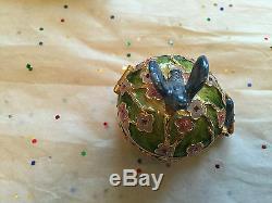Estee Lauder 2006 Parfum Compact Solide Mib Rare Precious Birds Jay Strongwater