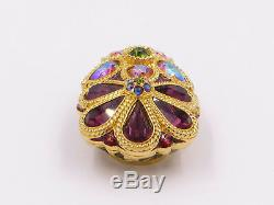 Estee Lauder 2008 Jay Strongwater Jeweled Flower Parfum Solide Compact (vide)
