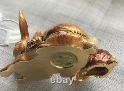Estee Lauder 2009 Solid Perfume Compact Cuddly Bunnies Jay Strongwater Plaisirs