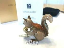 Estee Lauder 2010 Parfum Solide Compact Mib Ludique Ecureuil Jay Strongwater