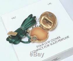 Estee Lauder 4 Leaf Clover Irish Solide Parfum Compact Boîtes Original Collier