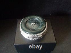 Estee Lauder Aliage Jade Button Box Compact Pour Parfum Solide 1977 Vide