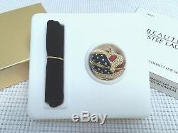 Estee Lauder American Apple Solid Parfum Compact In Orig. Boites Vtg Mibb