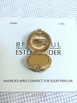 Estee Lauder American Apple Solid Perfume Compact À Orig. Boxes Vtg Mibb