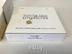 Estee Lauder Anniversaire D'or 2003 Parfum Solide Compact Rare Nouveau
