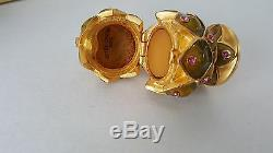 Estée Lauder Artichaut Parfum Solide Cristaux Swarovski Compact, New Non Utilisés