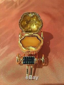Estee Lauder Beautiful Cinderlla's Coach Compact À Parfum Solide Avec Pochette Et Boîte