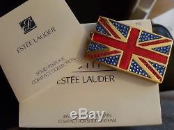 Estee Lauder Beautiful Jeweled Drapeau De La Grande-bretagne Compact Pour Parfum Solide Nouveau