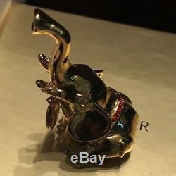 Estee Lauder Beautiful Strong Elephant Compact Pour Marque De Parfum Solide Nib