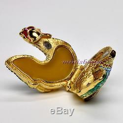 Estee Lauder Bejeweled Rooster Compact Parfum Compact 2004 Par Judith Leiber