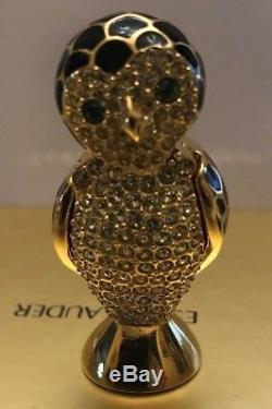 Estee Lauder Belle Wise Owl Compact Pour Parfum Solide Tout Neuf En Boîte