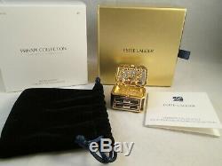 Estee Lauder Bijoux Précieux Parfum Solide Compact Gardenia Bnib Jamais Utilisé