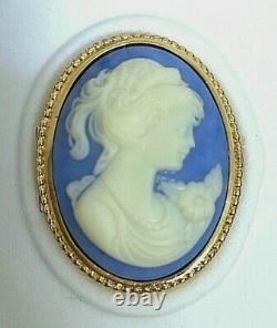 Estee Lauder Blue Cameo Vintage Youth-dew Solid Perfume Compact À Orig. Box Mib