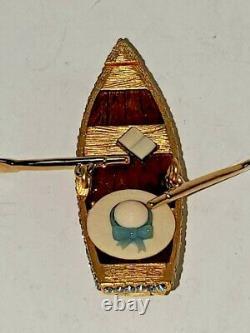 Estee Lauder Boat Ride Solid Parfum Compact, Jamais Utilisé, Avec Les Deux Boîtes