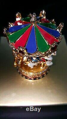Estée Lauder Carousel Compact Withbeautiful Swavorski Cristaux Nouvelle Boîte