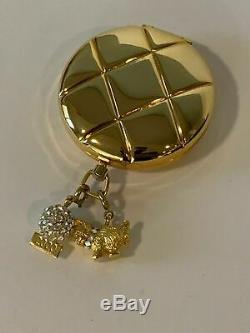 Estee Lauder Charm Personal Compact Lucidité Swovarski Ball & Chaton