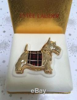 Estee Lauder Chien De Scottie Puppie Connaître Solide Parfum Compact Orig. Box Rare