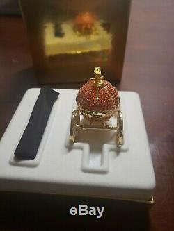 Estee Lauder Cinderellas Coach Parfum Solide De Citrouille En Cristal Mib Compact