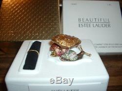 Estee Lauder Coffret Champignon Enchanted Jay Strongwater Compact Parfum Solide