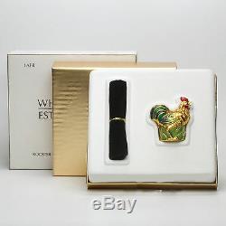 Estee Lauder Collection Rooster Compact Pour Parfum Solide 2001 Toutes Les Boîtes
