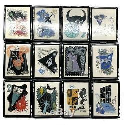 Estee Lauder Compact Erte Lucidity Zodiac Ensemble Complet De 12 Vintage