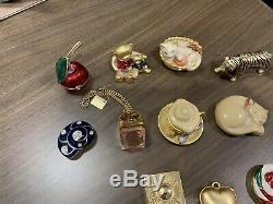 Estee Lauder Compact Lot Tiger 2009 Owl Cat Elephant Lollipop Café Parfum Shell