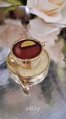 Estee Lauder Compacte Parfum Solid Tea Cup 1998 Avec Parfum