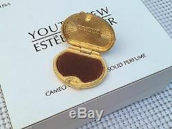 Estee Lauder Coral Cameo Solide Parfum Compact Austrian Cristaux Orig Boîtes Rare