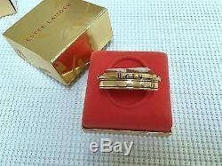 Estee Lauder Core Cameo Vintage Solid Parfum Compact In Orig. Box 1986