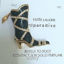 Estee Lauder Cowgirl Jewels Va Commencer Un Parfum Solide Compact In Orig. Boxes Nouveau