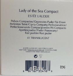 Estee Lauder Dame De La Mer Compact 01 Translucide Poudre Pressée Le Nib 0,1 Oz
