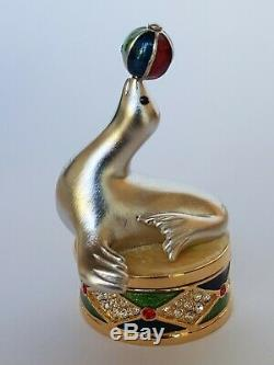 Estee Lauder Dazzling Argent Jonglerie Seal Parfum Solide Compact Nib 2000