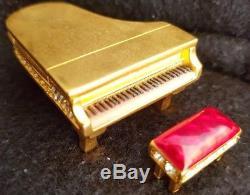Estee Lauder Dazzling Gold Grand Piano Compact Pour Parfum Solide Nouveau