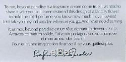 Estee Lauder Fantasy Fleur Collier Solide Parfum Compact Art Deco Orig. Boîte