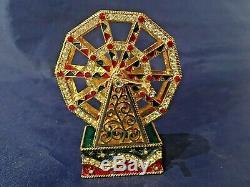 Estee Lauder Ferris Wheel Compact Parfum Solide Avec Pochette Et Boîte Signée