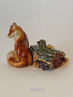 Estee Lauder Fiery Fox Compact Parfum Compact 2003 Jay Strongwater Nouveauté De La Boîte