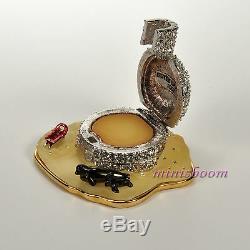 Estee Lauder Frosted Igloo Compact Pour 2002 Parfum Solide Wiht Toutes Les Boîtes