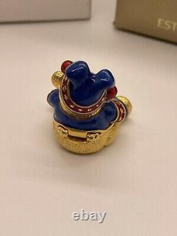 Estee Lauder Harrods 2004 Noel Teddy Bear Solid Parfum Compact