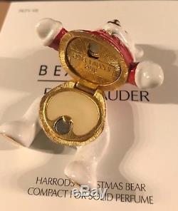 Estee Lauder Harrods 2018 Compact Parfum Solide Ours De Noël Épuisé