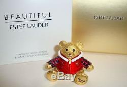 Estee Lauder Harrods Noël Ours Belle Parfum Solide Compact 2017 Ltd Ed Nib
