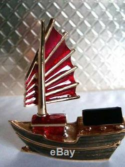 Estee Lauder Intuition Chinese Junk Boat Parfum Solide Compact 2003 Plume