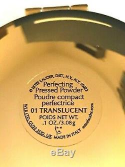 Estee Lauder Italia Compact 01 Translucide Perfecting Cristaux De Poudre Pressée