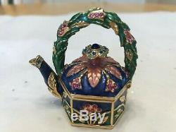 Estee Lauder Jardin Teapot Parfum Solide Compact 2006 Belle Jay Strongwater
