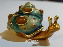 Estee Lauder Jay Strongwater Chatoyante Snail Parfum Solide Compact Jewel 2010