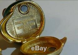 Estee Lauder Jay Strongwater Chatoyante Snail Parfum Solide Jewel Compact 2010