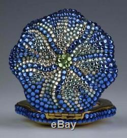 Estee Lauder Jay Strongwater Exotique Cristal Bleu Lucidity Poudre Compacts