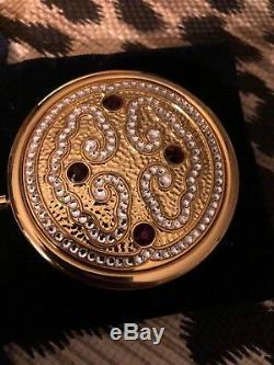 Estee Lauder / Jay Strongwater Jeweled Tiara Compact 2010 Nouveau Avec Boîte D'origine